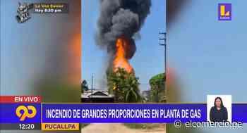 Pucallpa: Incendio en planta de gas se expande a viviendas - El Comercio Perú