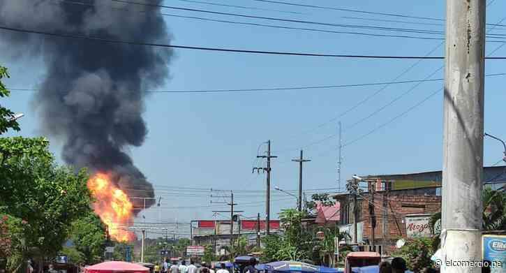 Ucayali: reportan tres heridos durante incendio en planta envasadora de gas en Pucallpa | VIDEO - El Comercio Perú