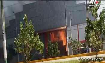 Reportan incendio en planta de gas en Pucallpa - ATV.pe
