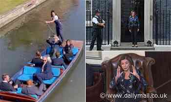 Pelosi takes time out from bashing Donald Trump and warning about China to take a boat trip in UK