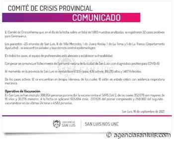 Este jueves se registraron 32 casos de Coronavirus - Agencia de Noticias San Luis