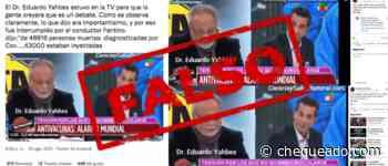 Es falso que murieron por coronavirus 43 mil vacunados en la Argentina - Chequeado