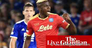 Leicester City 2-2 Napoli, Rangers 0-2 Lyon and more: Europa League – as it happened!