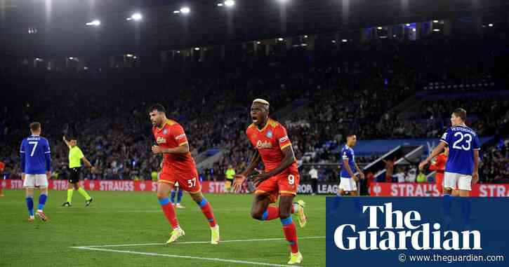 Victor Osimhen hits Napoli double to deny Leicester Europa League victory