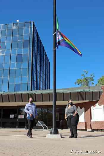 Pride flag raised at city hall
