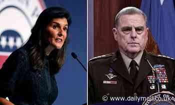 Nikki Haley says Gen Milley faces grilling over calls to Chinese general when he comes before Senate