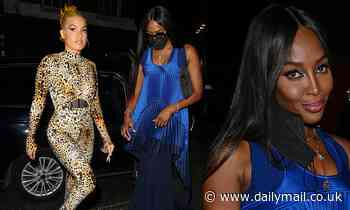 Naomi Campbell, 51, looks incredible in a flowing blue gown at London Fashion Weekopening night