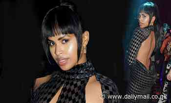 Idris Elba's wife Sabrina wows in a backless dress for London Fashion Week's opening night party