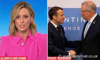 Allison Langdon clashes with Scott Morrison for 'blindsiding' France with AUKUS nuclear deal