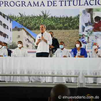Abinader entrega 985 certificados títulos de propiedad en Nigua, San Cristóbal - El Nuevo Diario (República Dominicana)