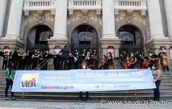 Orquestra Sinfônica Jovem do Rio de Janeiro faz concerto em homenagem ao Setembro Verde no Centro da capital - Saúde RJ