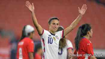 Lloyd nets 5 in win to start USWNT farewell tour
