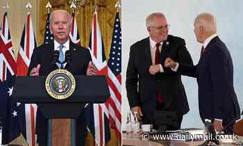 Scott Morrison, Joe Biden: PM laughs off US leader FORGOT his name in nuclear submarine announcement