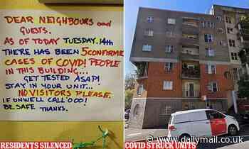 Coronavirus Australia: Sydney Covid-19 block tenants told to 'keep mouth shut'