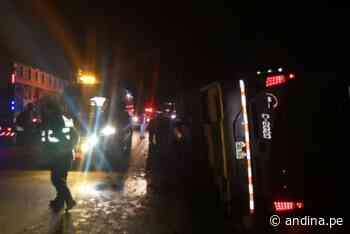 Despiste de bus en tramo Pasco-La Oroya deja siete heridos - Agencia Andina