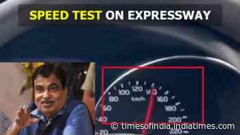 Mumbai-Delhi expressway: Nitin Gadkari rides car at 120km/hr during inspection