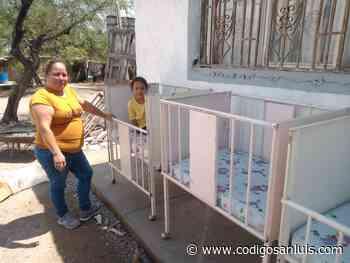Entrega DIF Matehuala cunas en San Rafael - Código San Luis