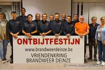 Vriendenkring Brandweer Deinze schenkt 30 gratis manden weg op ontbijtfestijn