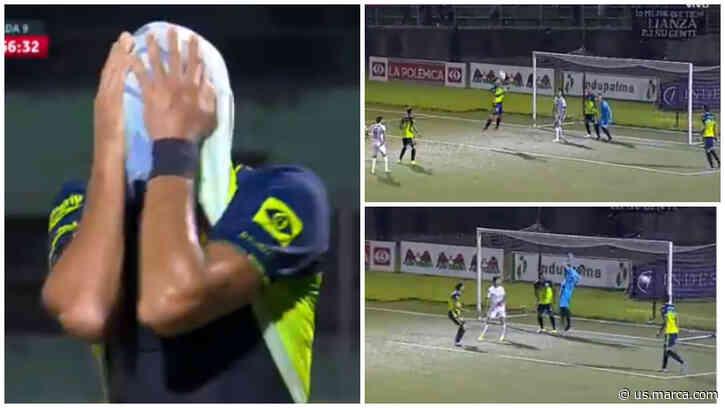 ¿El autogol del año? Tremendo error del uruguayo Fabricio Silva en el Alianza vs Santa Tecla - Marca Claro USA