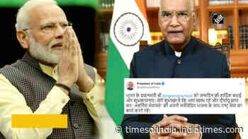 President Kovind, VP Naidu wish PM Modi on his 71st birthday