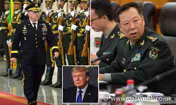 Gen. Mark Milley defends calls made to his Chinese counterpart as 'routine'