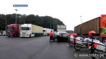 Politie Leuven organiseert grote controle op zwaar vervoer langs E40 in Bertem - ROB-tv