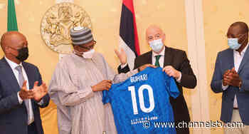 PHOTOS: Buhari Receives Infantino, Says Football Is A Major Tool Of National Unity - Channels Television