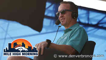 Mile High Morning: Peyton Manning's 'Monday Night Football' broadcast debuts to rave reviews - DenverBroncos.com
