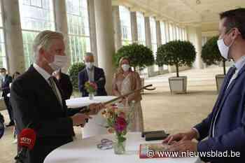 Mr Proper ontvangen door koning Filip