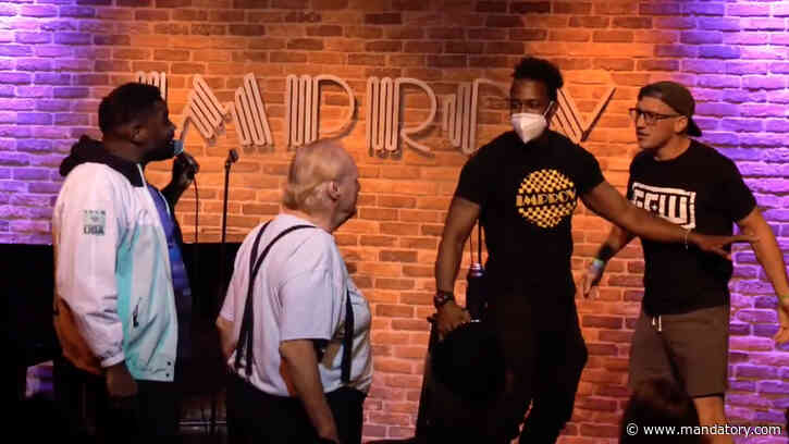Tony Deppen Confronts Ron Funches On Stage At The Hollywood Improv (Video)