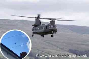 Woman captures video of RAF helicopter flying over Rossendale