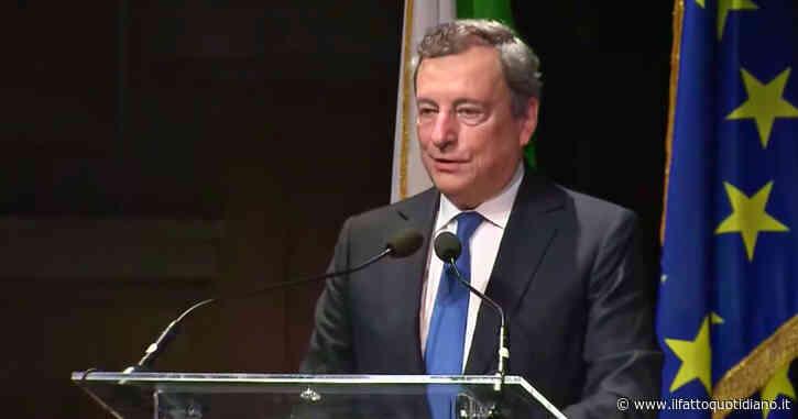 """Clima, Draghi: """"Non stiamo rispettando gli accordi di Parigi. Serve una trasformazione radicale coprendo i costi sociali"""""""