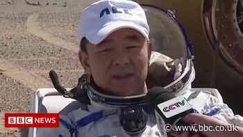 Three Chinese astronauts return to Earth after 90 days in space