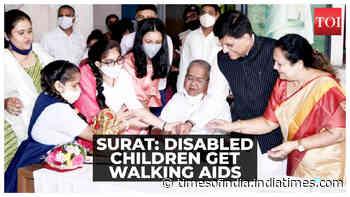 PM Modi B'day: Disabled children receive walking aid in Surat