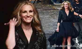 Julia Roberts, 53, sashays through Paris to shoot newLancôme campaign