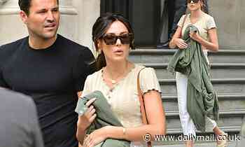 Michelle Keegan looks casually chic as she steps out with handsome husband Mark Wright