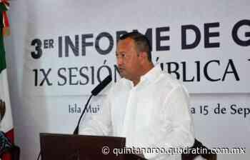 Rinden en Isla Mujeres tercer informe de gobierno - Quadratin Quintana Roo - Quadratín Quintana Roo