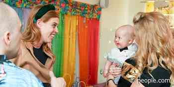 Royal Mom-to-Be Princess Beatrice Gets a Gigantic Grin from a Bowtie-Bedecked Baby During Charity Outing - PEOPLE