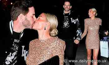 Heather Rae Young and Tarek El Moussa put on a loved-up display before her surprise birthday party