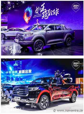 Targi Chengdu Motor Show okazją do debiutu dla nowych modeli GWM POER i odnotowania dwieścietysięcznego sprzedanego pojazdu od momentu wejścia na rynek