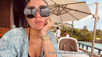 Kareena Kapoor Khan poses with son Jeh's empty chair at beach vacation: 'Where's my baby?'