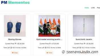 At e-auction of PM Modi`s mementos, equipment of Olympians, Paralympians grab eyeballs