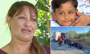 Honduran mother discovers her four-year-old son who was found naked near US-Mexico border