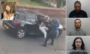 Moment a model, 21, scrambled to save her son from their car after she was hijacked at knifepoint