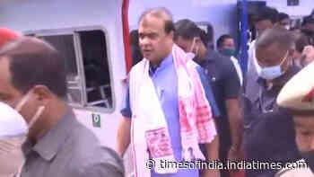 Assam CM flags off 5 vessels of IWT in Assam