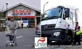 Lorry drivers and warehouse workers at Tesco distribution centres REJECT 2.5% pay increase offer
