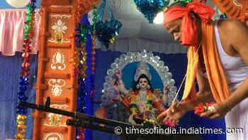 Tripura State Rifles perform Vishwakarma Puja