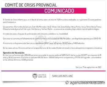 Son 23 los casos de Coronavirus registrados este viernes - Agencia de Noticias San Luis