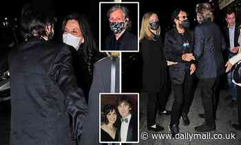 Olivia Harrison, Paul McCartney, Ringo Starr and their wives have a mini reunion in London