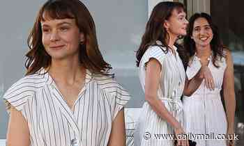 Carey Mulligan throws herself into character as she continues filming She Said with Zoe Kazan